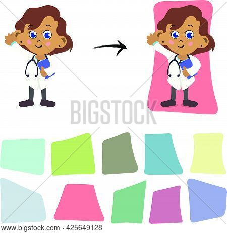 Abstract Shapes Background. Organic Random Square Shape Elements.