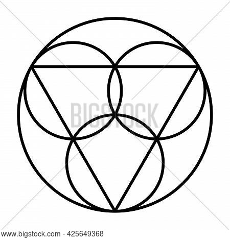 Trinity Symbol. Three Circles, Representing The Coeternal And Consubstantial Persons Father, The Son