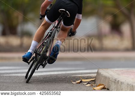Cycling Rider Competing In The Youth Class