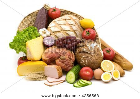 Tasty Food On White Background