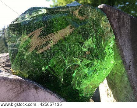 Stained And Decorative Glass On Tombstones At Feldli Cemetery In Saint Gallen (bunt- Und Zierglas Au
