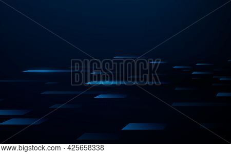 Abstract Squares Geometric Perspective With High Speed Digital Hi Tech Concept Background Technology