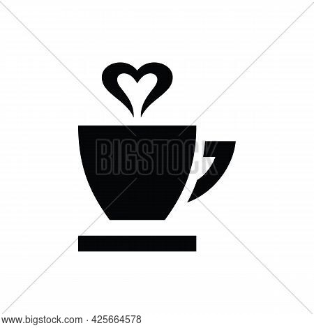 Cup Of Coffee Icon Template Black Color Editable. Coffe Cup Symbol Icon Isolated On White Background