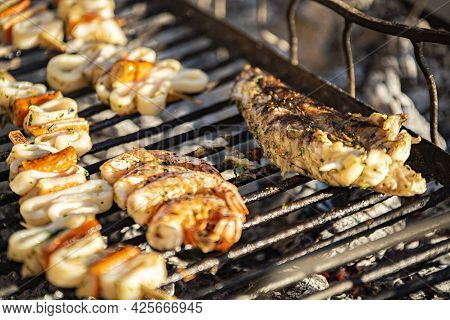 Piece Of Fish On The Grill 3