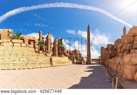 The Precinct Of Amun-re And The Obelisk, Karnak Temple, Luxor, Egypt