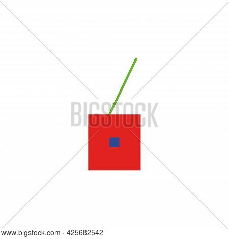 Cherry Vector Icon In Rgb Colors. Cherry Abstract Vector Icon Isolated On White. Perfect For Logo, P