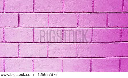 Background Decorative Pink Wall, Brick Wall. Block Wall Texture. Copy Space.