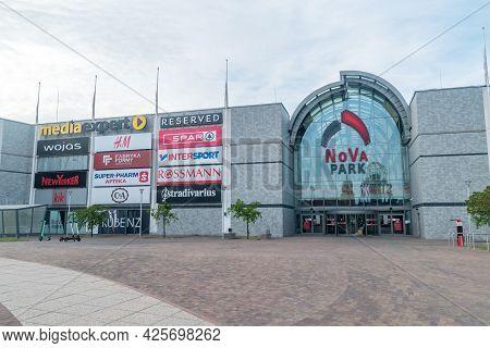 Gorzow Wielkopolski, Poland - June 1, 2021: Nova Park Shopping Mall In Gorzow Wielkopolski.