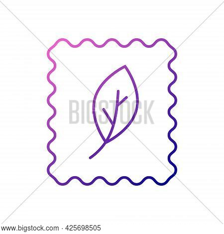 Organic Material Label Outline Icon. Fabric Feature. Textile Industry. Material Quality. Fiber Type.