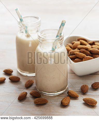 Almond Milk And Almonds