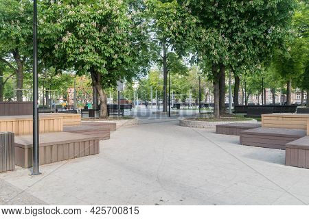 Gorzow Wielkopolski, Poland - June 1, 2021: Kwadrat Square At Gorzow Wielkopolski.