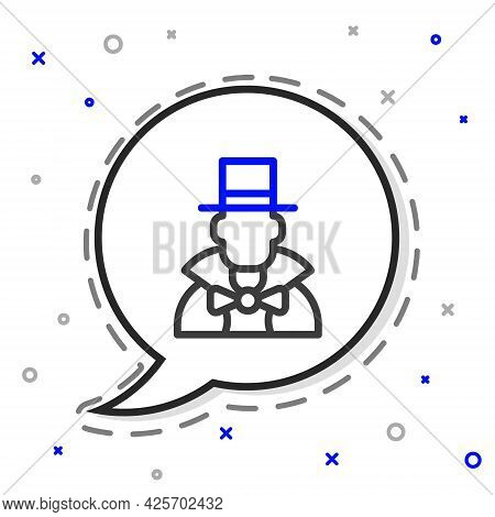 Line Magician Icon Isolated On White Background. Colorful Outline Concept. Vector
