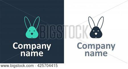 Logotype Animal Cruelty Free With Rabbit Icon Isolated Logotype Background. Logo Design Template Ele