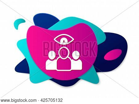 Color Spy, Agent Icon Isolated On White Background. Spying On People. Abstract Banner With Liquid Sh