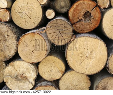 Firewood Chopped And Stacked, Firewood Background, Pile Of Firewood
