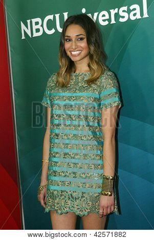 PASADENA, CA - JAN. 7: Meaghan Rath arrives at the NBCUniversal 2013 Winter Press Tour at Langham Huntington Hotel & Spa on January 7, 2013 in Pasadena, California