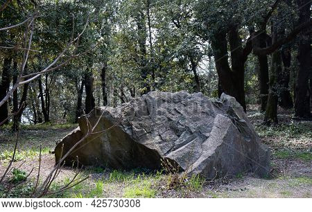 View Of Old Stones In The Vorontsov Park Of The Crimean Peninsula