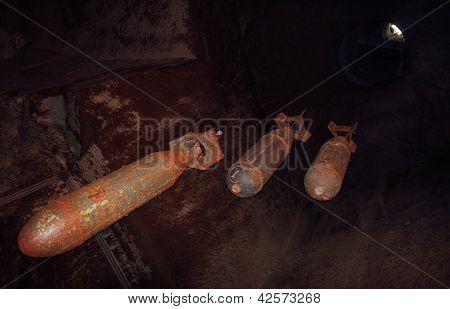 Ww2 Bombs In A Bunker