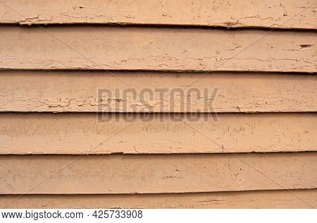 Background Of Beige Boards Laid Out Horizontally, Background, Boards, Beige, Old, Color