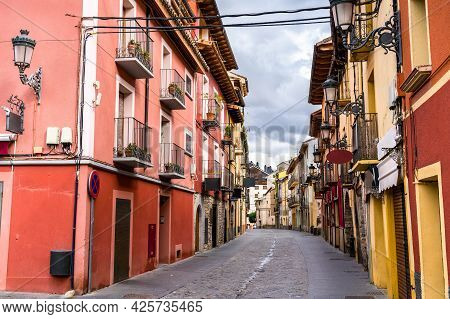 Traditional Architecture Of Jaca In Aragon, Spain