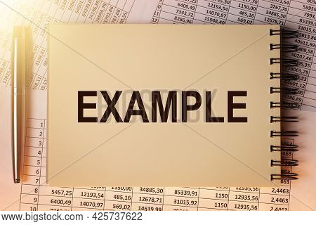 Example Word On Notebook Paper On Financial Documents.