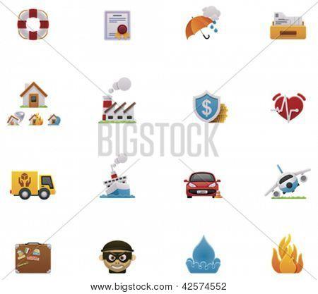 Vector insurance icon set