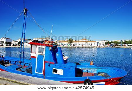 A Boat�s Detail On The River Of Tavira