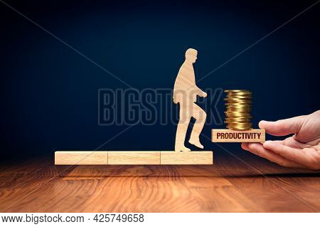 Productivity Improvement Leads To Increase In Income. Coach Motivate To Productivity Improvement To