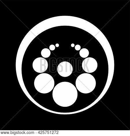 Golden Ratio Crop Circle Pattern. Circles Graduated And Arranged According To Golden Ratio. Sacred G