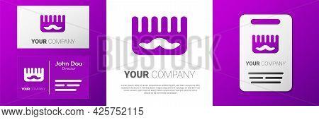 Logotype Hairbrush Icon Isolated On White Background. Comb Hair Sign. Barber Symbol. Logo Design Tem