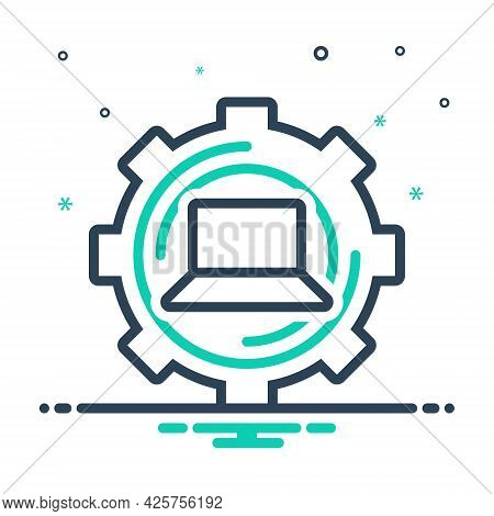 Mix Icon For Restore Return Repayment Reset Technology Laptop Repair