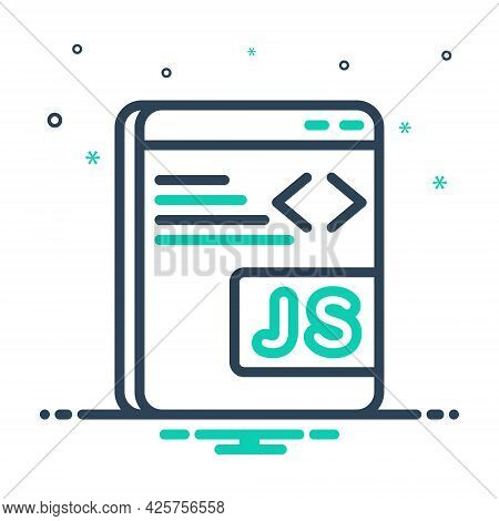 Mix Icon For Javascript Programming Software Coding Java