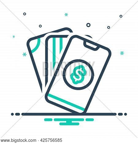 Mix Icon For Payment Salary Pay Wage Emolument Pay-packet Hand Mobile
