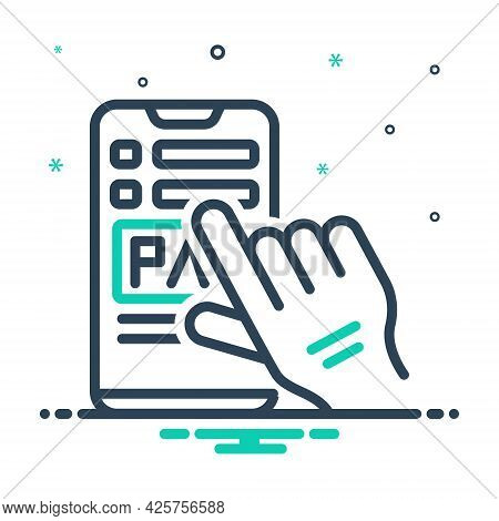 Mix Icon For Payment Salary Pay Wage Emolument Pay-packet