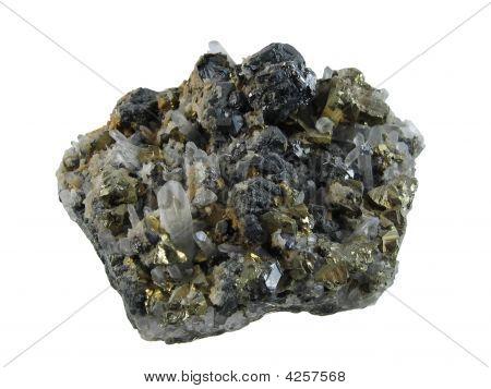 Pyrite And Quartz Crystals