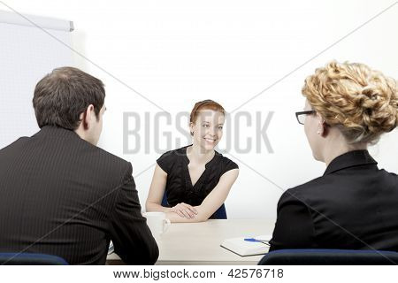 Young Woman Being Interviewed
