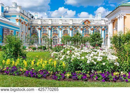 Catherine Palace And Park In Tsarskoe Selo (pushkin), Saint Petersburg, Russia - July 2021