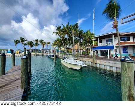Bimini, Bahamas - June 27, 2021 - Bimini Big Game Club And Marina On North Bimini, Bahamas On Sunny