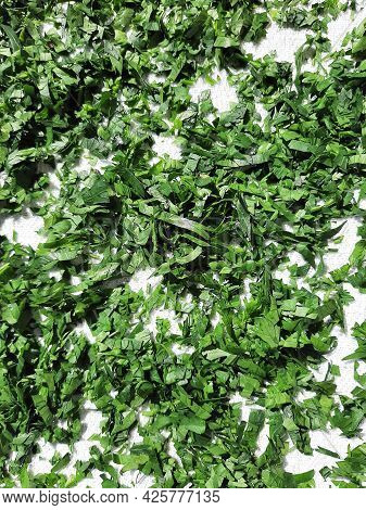 Chopped Parsley. Parsley As A Food Igredient. Cutted Parsley.