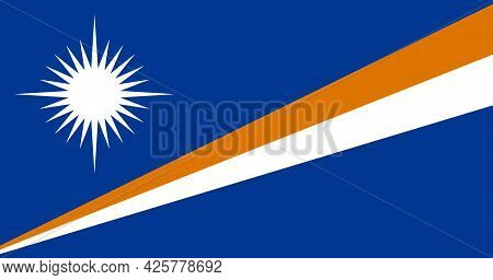 National Flag Of Marshall Islands In The Original Size,colours And Proportions (10:19)
