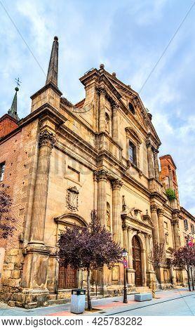 Ancient Santa Maria Church In Alcala De Henares Near Madrid, Spain