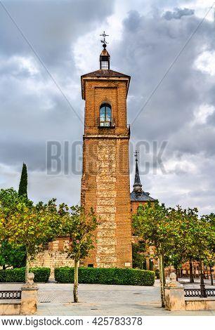 Santa Maria Tower In Alcala De Henares Near Madrid, Spain
