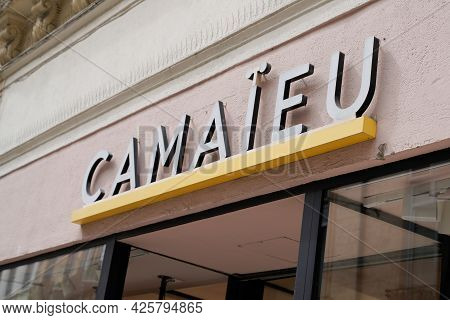Montpellier , Ocitanie France  - 06 30 2021 : Camaieu Logo Brand And Sign Text Front Of Facade Store