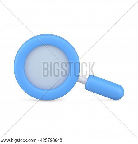 Magnifying Blue 3d Loupe. Research And Scaling Tool
