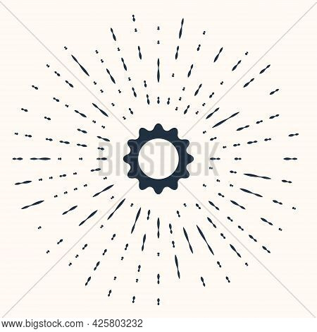 Grey Sun Icon Isolated On Beige Background. Summer Symbol. Good Sunny Day. Abstract Circle Random Do