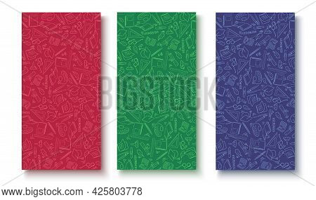 A Set Of Colorful Backgrounds For Use In School Sales Or Ads.