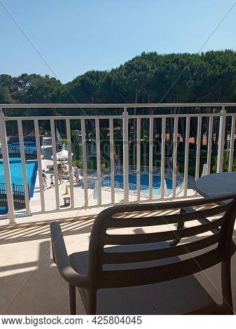 Belek, Antalya, Turkey - May 11, 2021: Bellis Deluxe Hotel In The Summer Morning