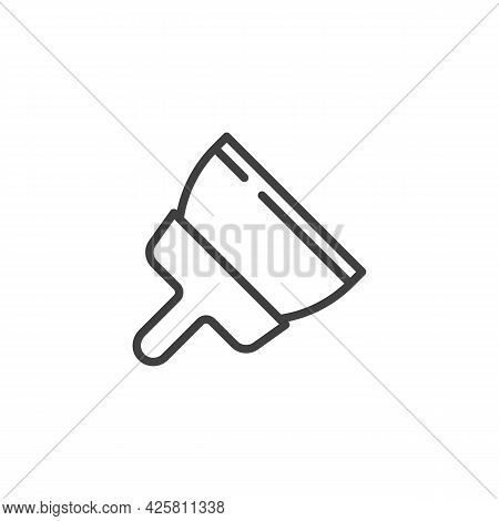 Plastering Trowel Line Icon. Linear Style Sign For Mobile Concept And Web Design. Putty Knife Outlin