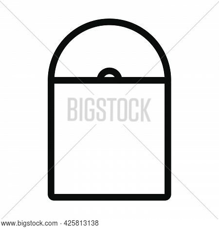 Vinyl Record In Envelope Icon. Bold Outline Design With Editable Stroke Width. Vector Illustration.