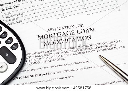 Application for Mortgage Loan Modification